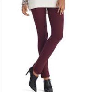 WHBM The Legging Wine Burgundy Side Zipper 2